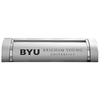 Brigham Young University-Desk Business Card Holder -Silver