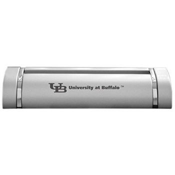 University at Buffalo, The State University of New York-Desk Business Card Holder -Silver