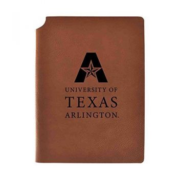 University of Texas at Arlington Velour Journal with Pen Holder|Carbon Etched|Officially Licensed Collegiate Journal|