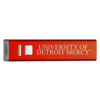 University of Detroit Mercy - Portable Cell Phone 2600 mAh Power Bank Charger - Red