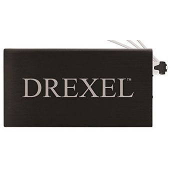 8000 mAh Portable Cell Phone Charger-Drexel University -Black