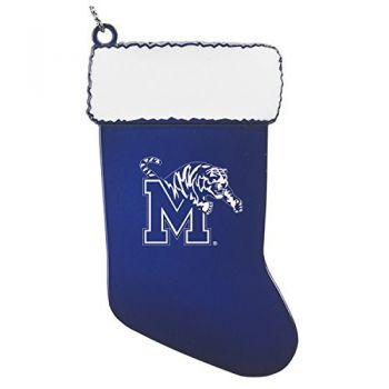 University of Memphis - Christmas Holiday Stocking Ornament - Blue