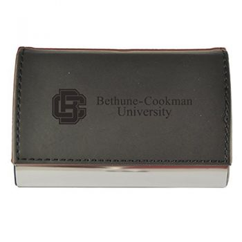 Velour Business Cardholder-Bethune-Cookman University-Black
