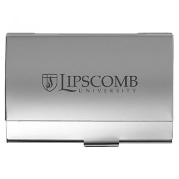 Lipscomb University - Two-Tone Business Card Holder - Silver
