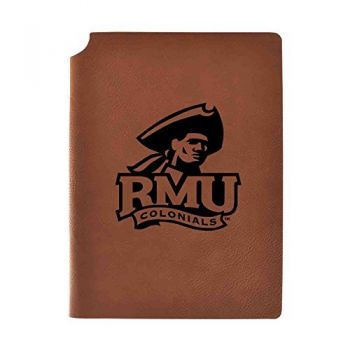 Robert Morris University Velour Journal with Pen Holder|Carbon Etched|Officially Licensed Collegiate Journal|