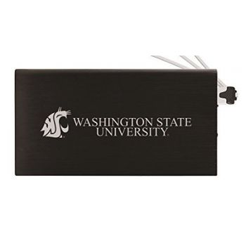 8000 mAh Portable Cell Phone Charger-Washington State University -Black