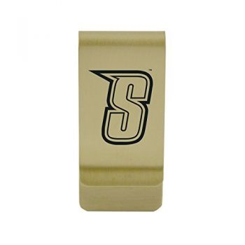 University of South Florida|Money Clip with Contemporary Metals Finish|Solid Brass|High Tension Clip to Securely Hold Cash, Cards and ID's|Silver