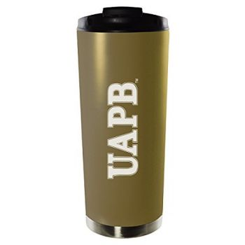 University of Arkansas at Pine Bluff-16oz. Stainless Steel Vacuum Insulated Travel Mug Tumbler-Gold