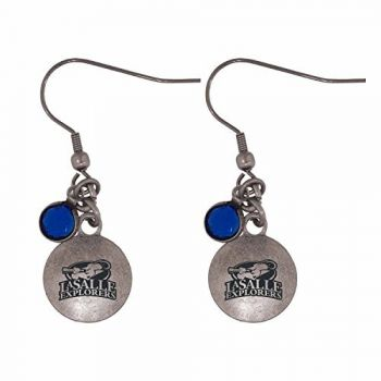 La Salle State University-Frankie Tyler Charmed Earrings