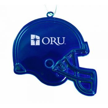 Oral Roberts University - Chirstmas Holiday Football Helmet Ornament - Blue