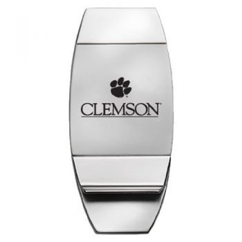 Clemson University - Two-Toned Money Clip - Silver