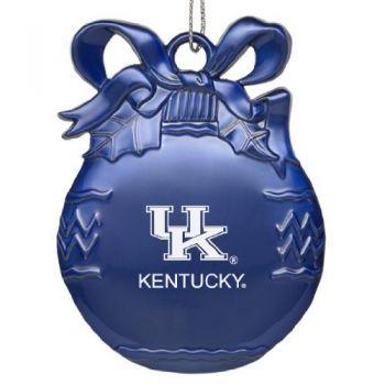 University of Kentucky - Pewter Christmas Tree Ornament - Blue