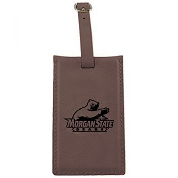 Morgan State University -Leatherette Luggage Tag-Brown
