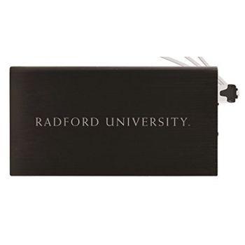 8000 mAh Portable Cell Phone Charger-Radford University -Black