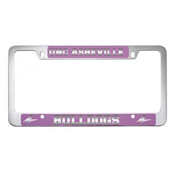 University of North Carolina at Asheville-Metal License Plate Frame-Pink