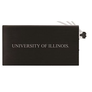 8000 mAh Portable Cell Phone Charger-University of Illinois -Black