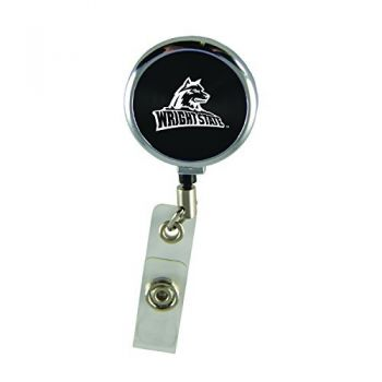 Wright State university-Retractable Badge Reel-Black