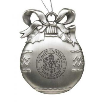 Colgate University - Pewter Christmas Tree Ornament - Silver