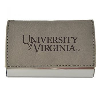 Velour Business Cardholder-University of Virginia-Grey