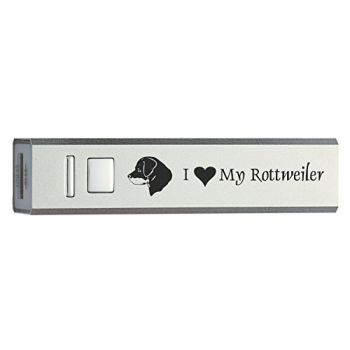 Quick Charge Portable Power Bank 2600 mAh  - I Love My Rottweiler