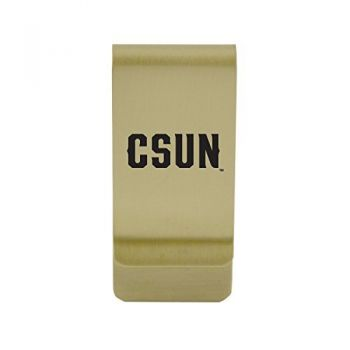 Canisus College|Money Clip with Contemporary Metals Finish|Solid Brass|High Tension Clip to Securely Hold Cash, Cards and ID's|Gold