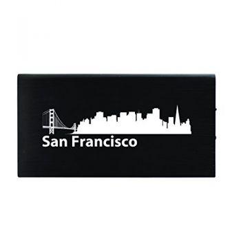 Quick Charge Portable Power Bank 8000 mAh - San Francisco City Skyline