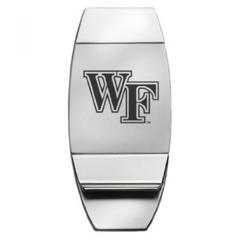 Wake Forest University - Two-Toned Money Clip - Silver
