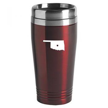 16 oz Stainless Steel Insulated Tumbler - I Heart Oklahoma - I Heart Oklahoma