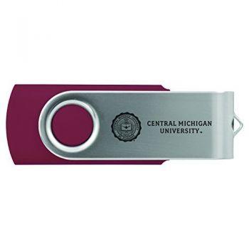 Central Michigan University -8GB 2.0 USB Flash Drive-Burgundy