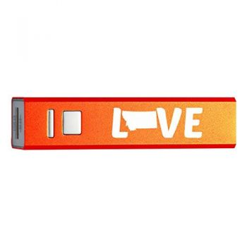 Montana-State Outline-Love-Portable 2600 mAh Cell Phone Charger-
