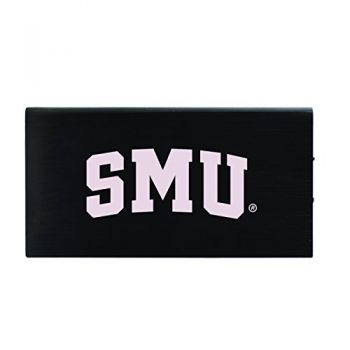 8000 mAh Portable Cell Phone Charger-Southern Methodist University -Black