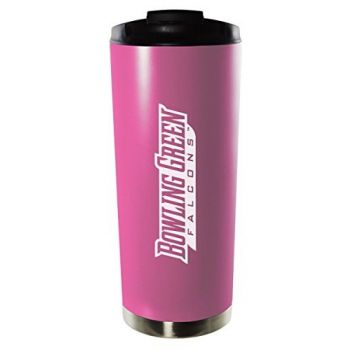 Bowling Green State University-16oz. Stainless Steel Vacuum Insulated Travel Mug Tumbler-Pink