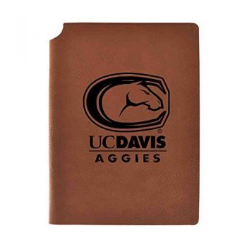 University of California, Davis Velour Journal with Pen Holder|Carbon Etched|Officially Licensed Collegiate Journal|