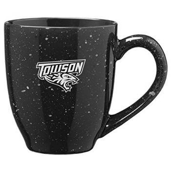 Towson University - 16-ounce Ceramic Coffee Mug - Black
