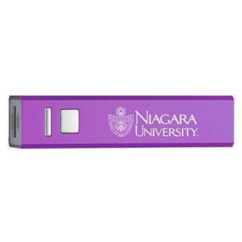 Niagara University - Portable Cell Phone 2600 mAh Power Bank Charger - Purple