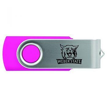 Weber State University -8GB 2.0 USB Flash Drive-Pink
