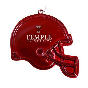 Temple University - Christmas Holiday Football Helmet Ornament - Red
