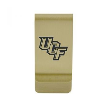 Central Connecticut University|Money Clip with Contemporary Metals Finish|Solid Brass|High Tension Clip to Securely Hold Cash, Cards and ID's|Silver