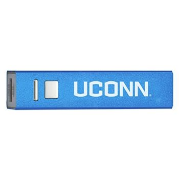 University of Connecticut - Portable Cell Phone 2600 mAh Power Bank Charger - Blue