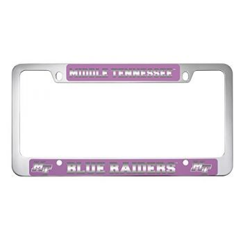 Middle Tennessee State University -Metal License Plate Frame-Pink
