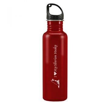 24 oz Reusable Water Bottle  - I Love My Siberian Huskie
