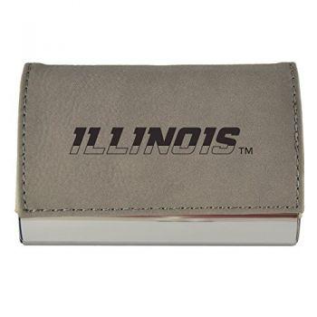 Velour Business Cardholder-University of Illinois-Grey