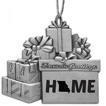 Missouri-State Outline-Home-Pewter Gift Package Ornament-Silver