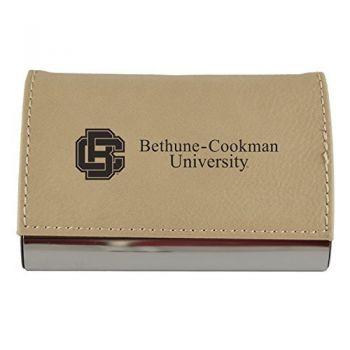 Velour Business Cardholder-Bethune-Cookman University-Tan