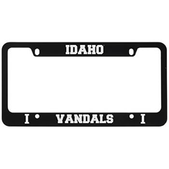 University of Idaho -Metal License Plate Frame-Black