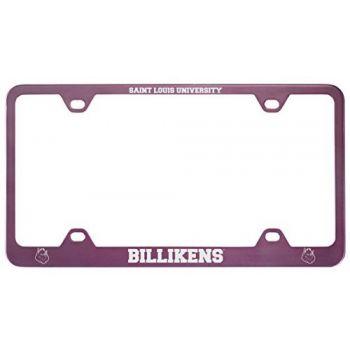 Saint Louis University -Metal License Plate Frame-Pink