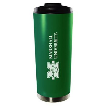 Marshall University-16oz. Stainless Steel Vacuum Insulated Travel Mug Tumbler-Green