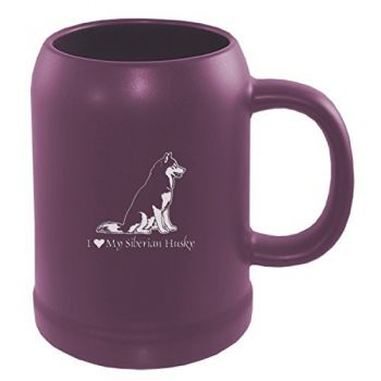 22 oz Ceramic Stein Coffee Mug  - I Love My Siberian Huskie