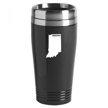 16 oz Stainless Steel Insulated Tumbler - Indiana State Outline - Indiana State Outline