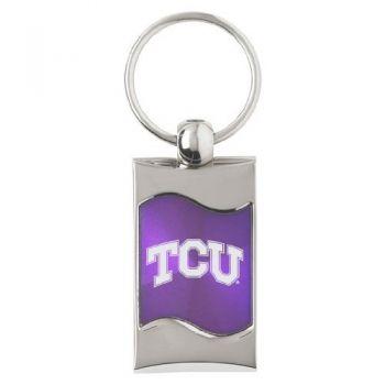 Texas Christian University - Wave Key Tag - Purple